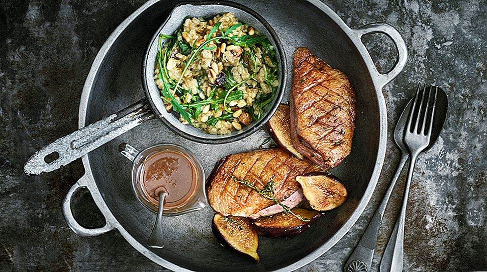 Roast Duck With Figs And Farro Oppskrift
