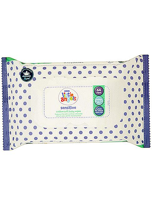 Asda Little Angels Sensitive Cotton Soft Baby Wipes pregled